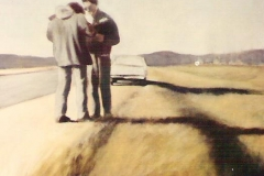 "1988 Oil on panel 48"" x 24"""